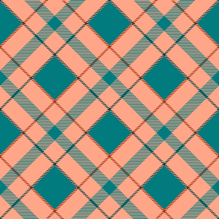 aquamarin: Seamless vector tartan pattern Illustration