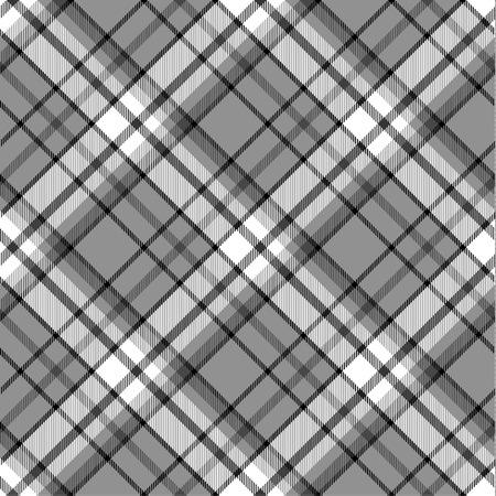 Schwarz und weiß nahtlose Tartan Muster