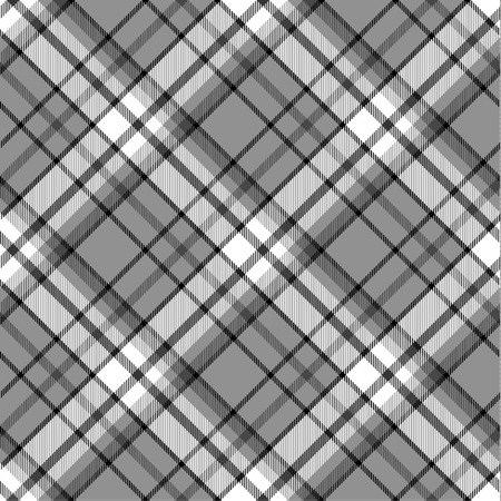 Black and white seamless tartan pattern