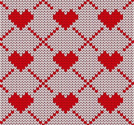 sueter: tejer patrón transparente con corazones