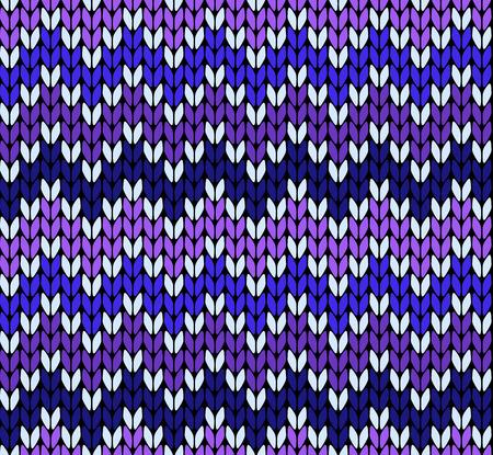 knitting: Seamless knitting zigzak pattern Illustration