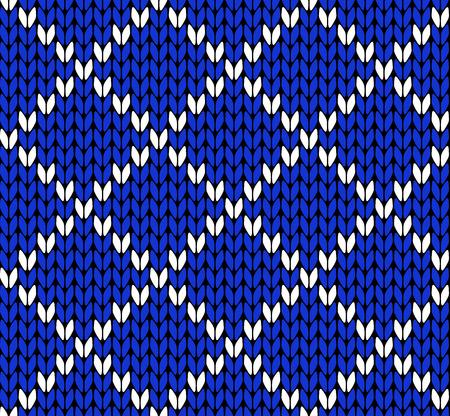 scandinavian christmas: Seamless knitting vector pattern
