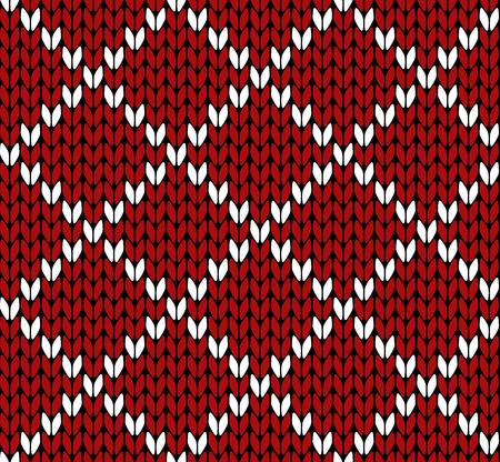 christmas plaid: Seamless knitting vector pattern
