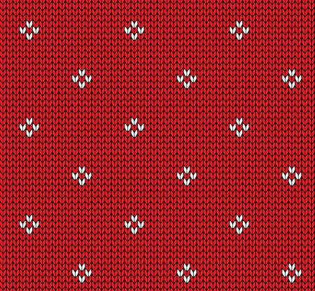 knitted fabrics: Seamless knitting vector pattern