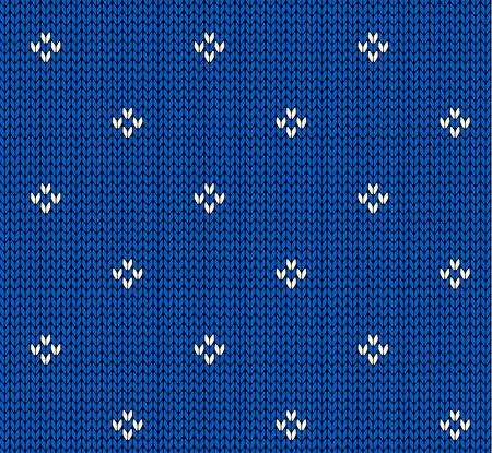 repetition row: Seamless knitting pattern Illustration