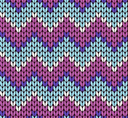Seamless knitting zigzag pattern