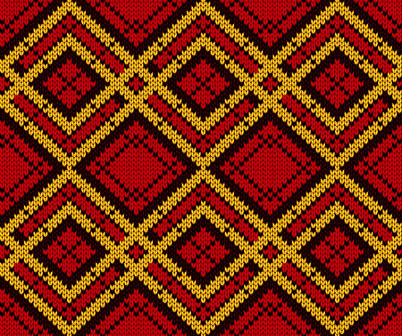 knit: Seamless knitting pattern Illustration