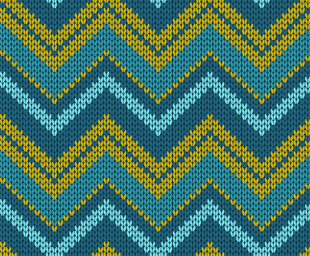 Seamless Zigzag Knitted Pattern Royalty Free Cliparts Vectors And