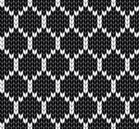 grid: Knit grid vector illustration Illustration