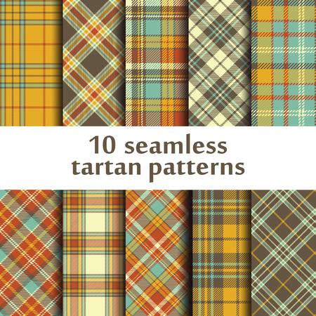 Set of 10 Checkered pattern
