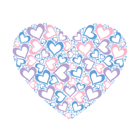 Stylized pink heart vector illustration Illustration