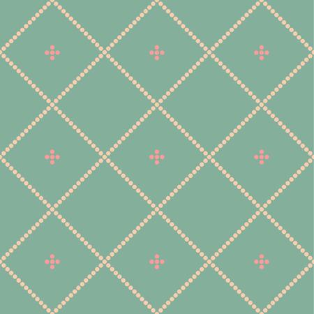 Seamless tartan vector pattern  round shapes