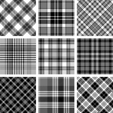Ensemble de modèles de tartan sans couture vector illustration.