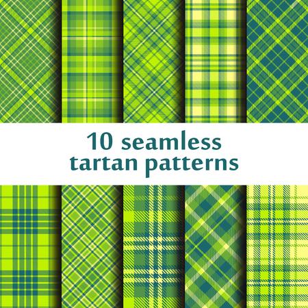 Set of seamless tartan patterns design