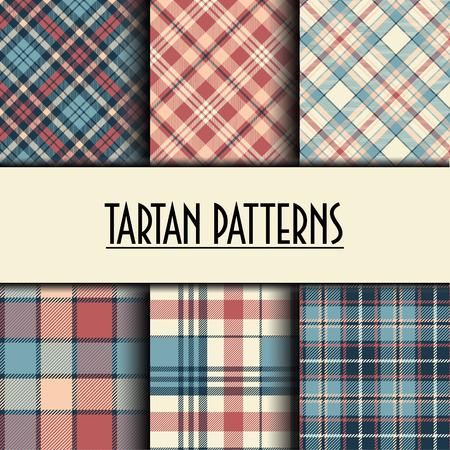 Set of seamless tartan patterns Vecteurs