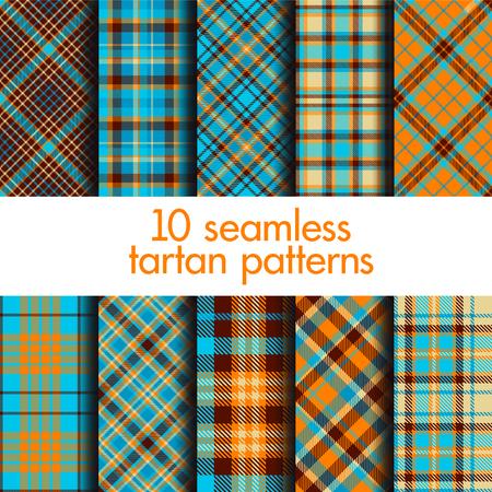 Set of seamless tartan patterns