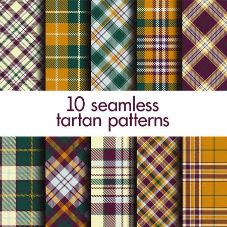 Set of seamless tartan patterns Stock Vector - 114081766