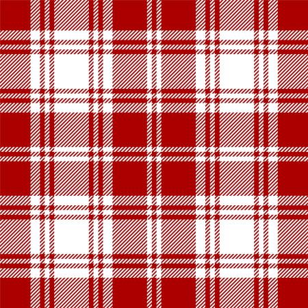 Seamless tartan black and white pattern