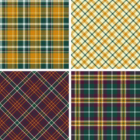 Set of seamless tartan vector patterns
