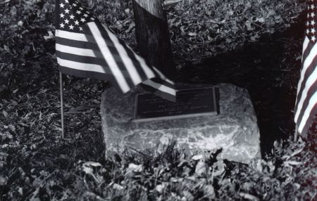 American Flags on soldiers grave