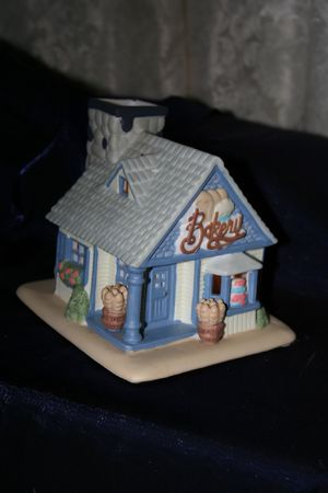Candle lit table top house