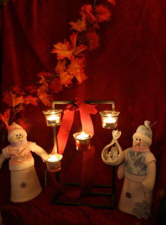 Snowman a glow