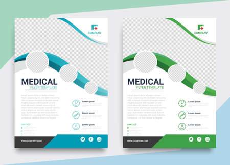 Corporate healthcare and medical flyer brochure template