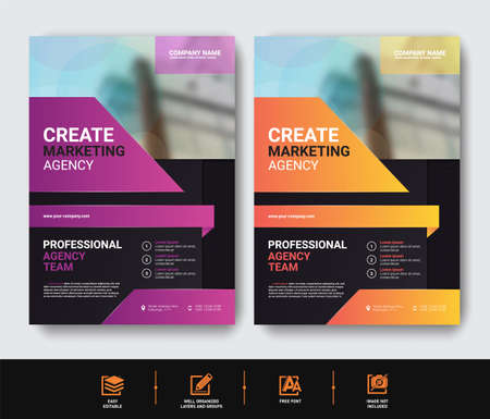 Business Flyer template set for cover brochure corporate Ilustracje wektorowe