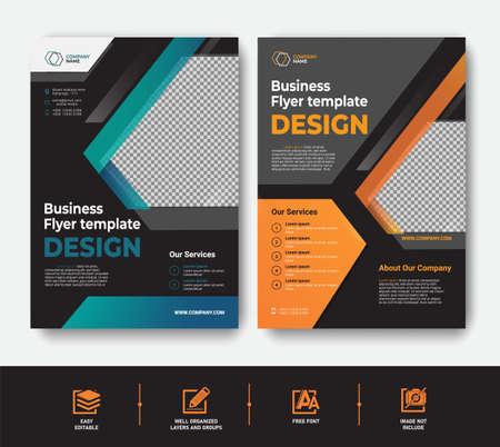 Modern Business Flyer template set for cover brochure corporate Vektoros illusztráció