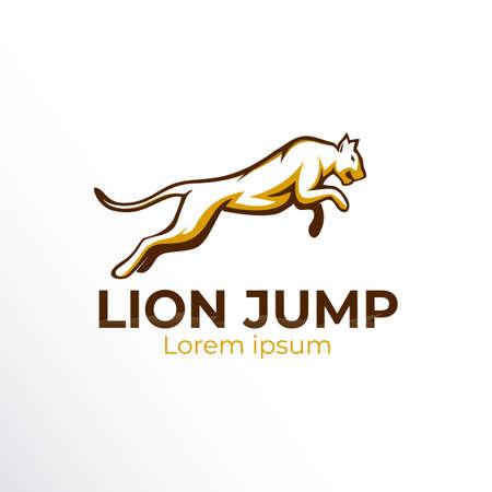 jaguar jump logo. jaguar line art outline vector