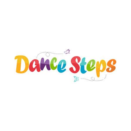 dance steps logo design for kids