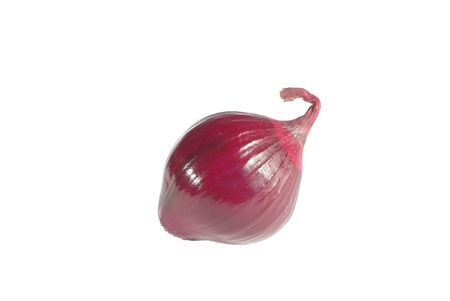 flavorful: red onion on white background Stock Photo