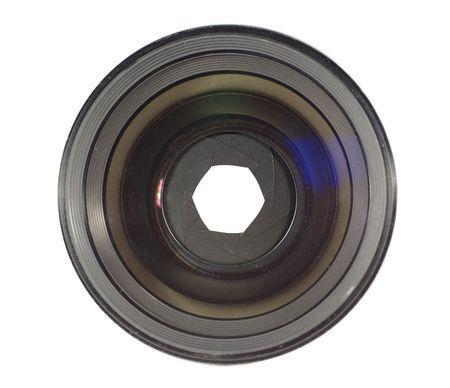 lens of camera on white background Stock Photo - 5156217