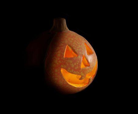 helloween: shining pumpkin helloween on black background