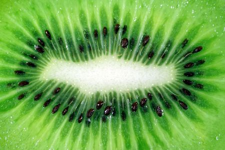 background from cut matur fruit of kiwi photo