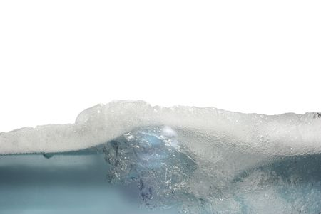 afloat: white foam afloat from bubbles   Stock Photo