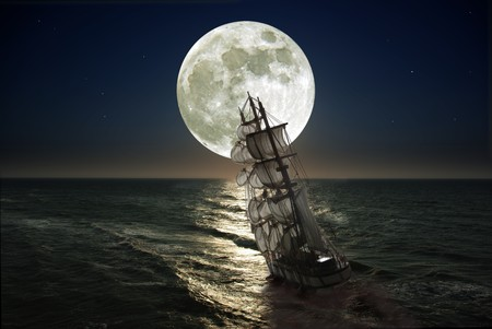 struggling from storm sailing-ship Stock Photo - 7070723