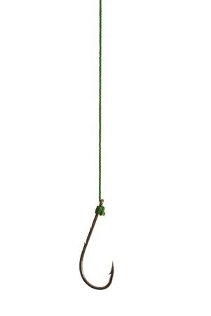 empty hook on white background