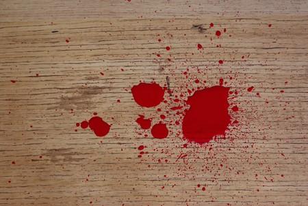 paint imitating blood on floor photo