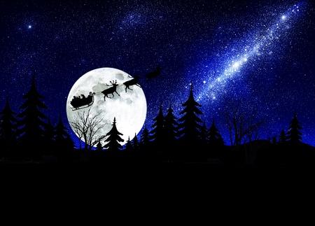 santa claus on sky background