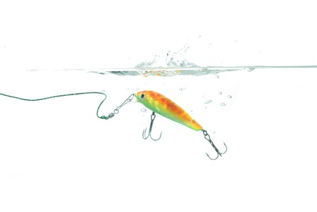 wobler:  wobbler for fishing on white background Stock Photo