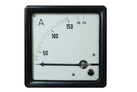 old ammeter on a white background Stock Photo - 9458766