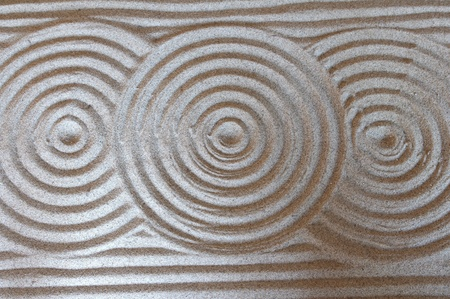 background with circles on sand