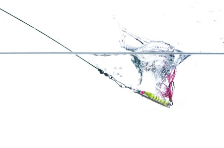 baits: metal angling falling to water bait