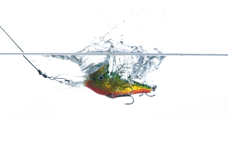 rapala:  wobbler for fishing in water Stock Photo
