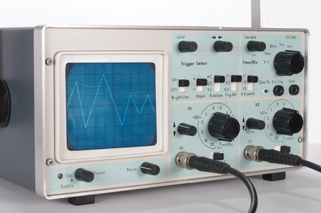 old oscilloscope with wire photo