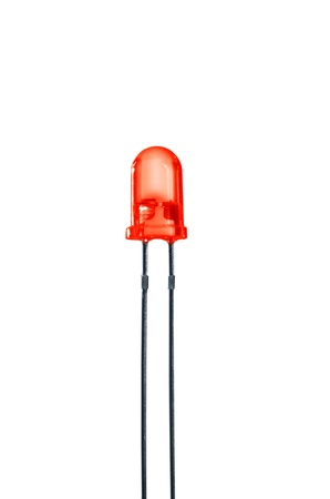 diode: red diode on white background Stock Photo