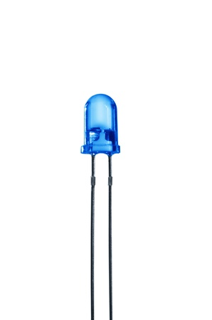 diode: blue diode on white background