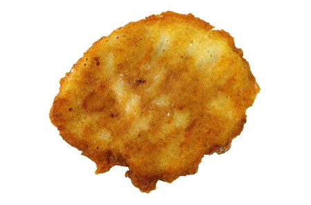 potato pancake isolated on white background  photo