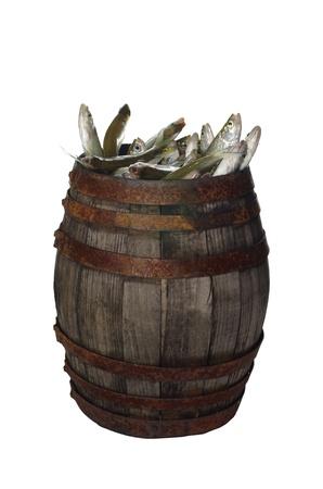fish in barrel Banque d'images